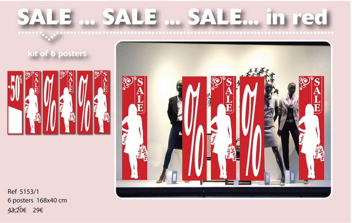 ENGLAND SALE in red and colors