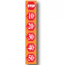 Grote affiche, STOP %, 176 x 30 cm.