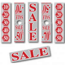 """6 Posters """"SALE...silver and red3"""