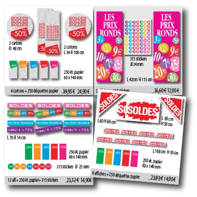 KIT AFFICHES SOLDES