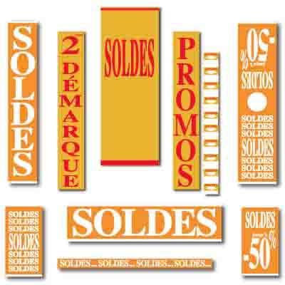 Affiches SOLDES or