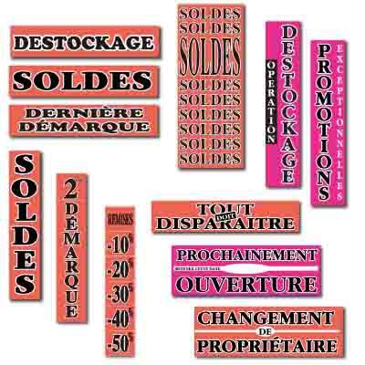 Affiches SOLDES fluos