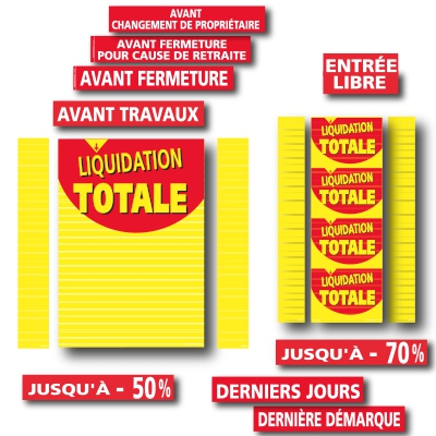 Affiches LIQUIDATION TOTALE 01