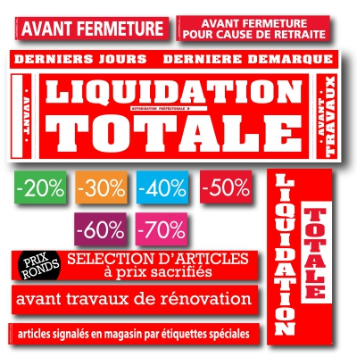 KIT AFFICHES LIQUIDATION TOTALE