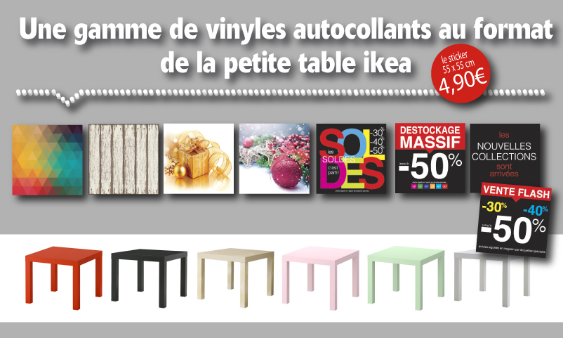 STICKERS pour table IKEA Lack