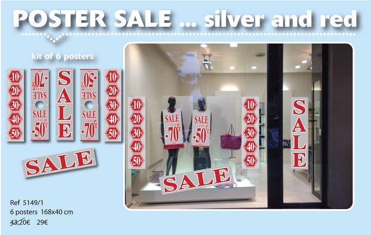 ENGLAND SALE silver and red