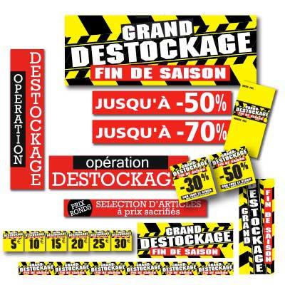 Affiches DESTOCKAGE FIN DE SAISON