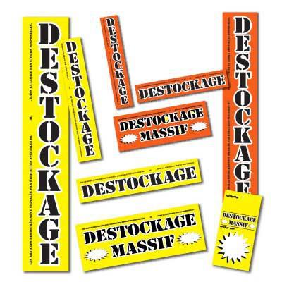 Affiches DESTOCKAGE MASSIF