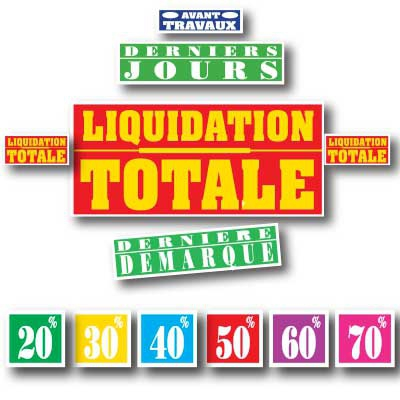 Affiches LIQUIDATION TOTALE 02