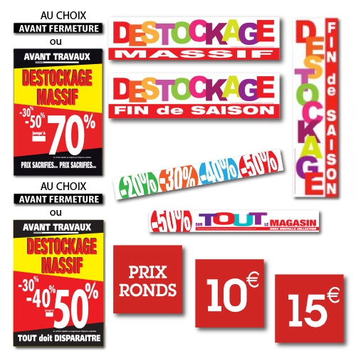 Stickers DESTOCKAGE