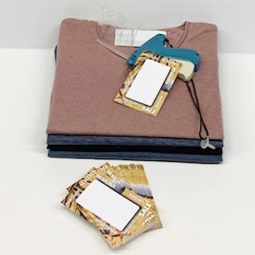 """Paquet de 100 étiquettes """"déco Eté - SOLDES"""" L80 H120 mm"""