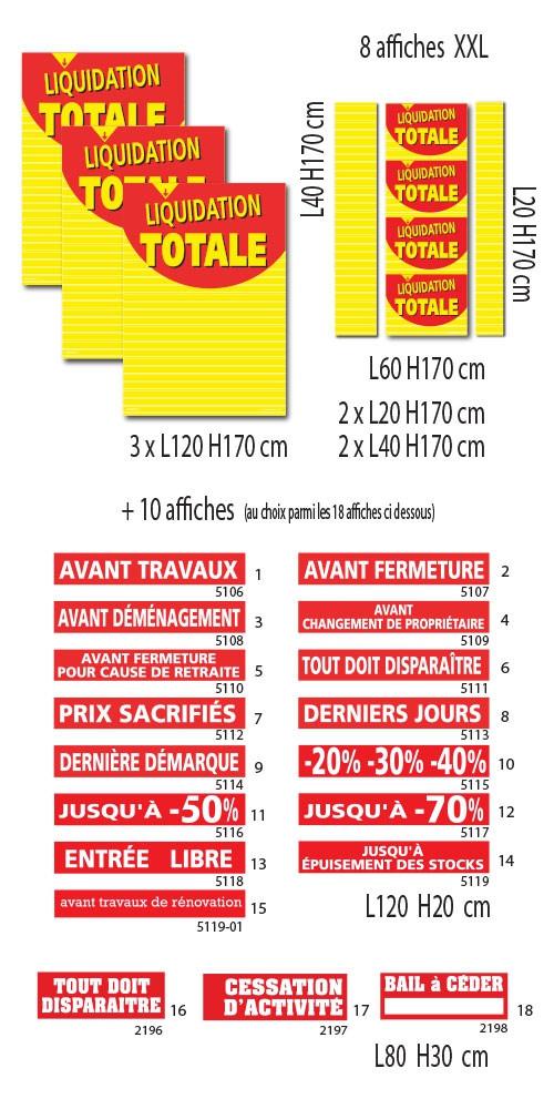 """Kit de 18 affiches  """"LIQUIDATION TOTALE 01"""""""