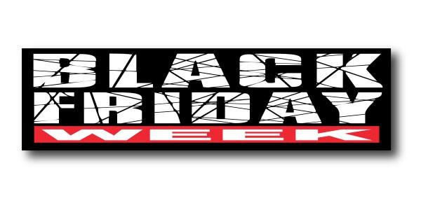 """Affiche """"BLACK FRIDAY WEEK"""" L75 H20 cm"""