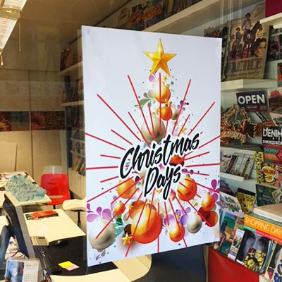 """Affiche  """"CHRISTMAS DAYS"""" L35 H50 cm"""
