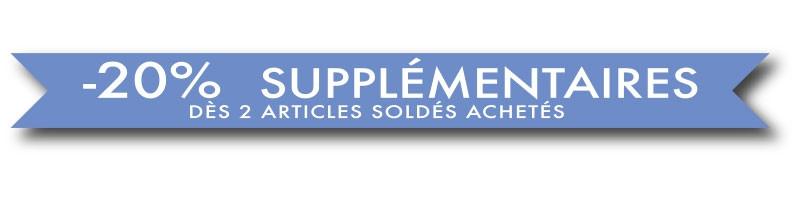 """Affiche """"-20% supplementaires""""  L100 H10 cm"""