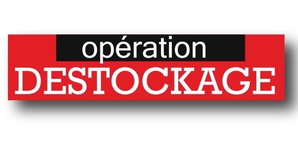 "Affiche ""OPERATION DESTOCKAGE"" L115 H30 cm"