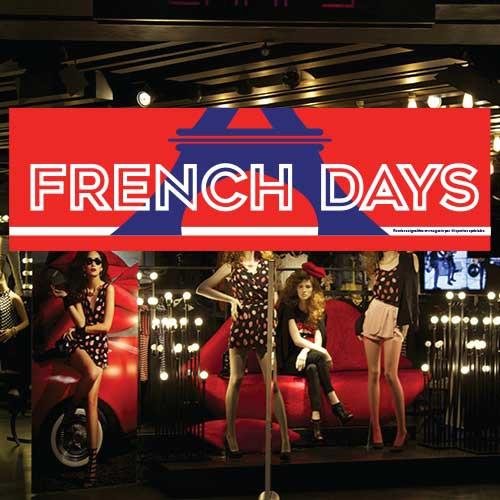 "Affiche ""FRENCH DAYS"" L150 H50cm"