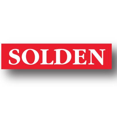 Affiche SOLDEN, 86 x 20 cm.