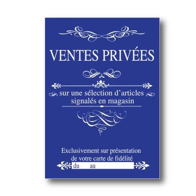 """Affiche """"VENTES PRIVEES"""" L50  H70 cm"""