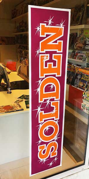 """Poster """"SOLDEN""""  L168 H40cm"""