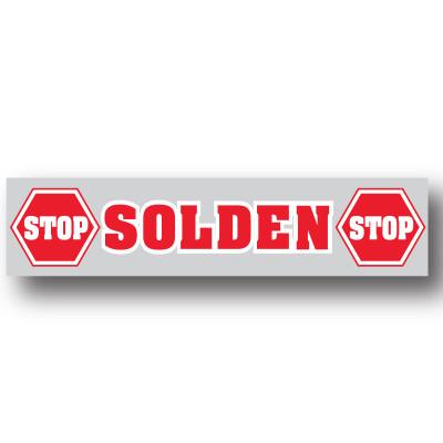 "Poster ""STOP SOLDEN"" L115 H30cm."