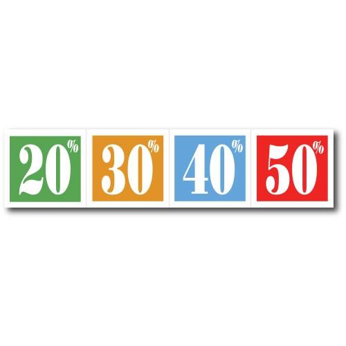 """Plakat """"20%-30%-40%-50%"""" 82 X 20 CM"""
