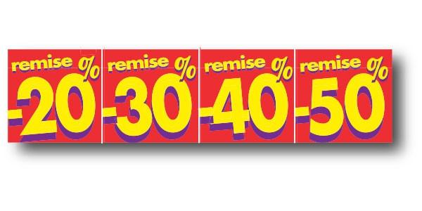 """Affiche """"20%30%40%50%"""" L80 H20 cm"""