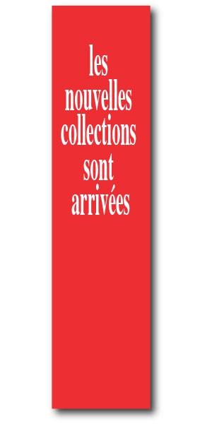 """L'affiche """"nouvelle collection"""" L20 H82 cm"""