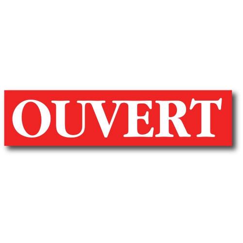"""Affiche """"OUVERT"""" L82  H20 cm"""