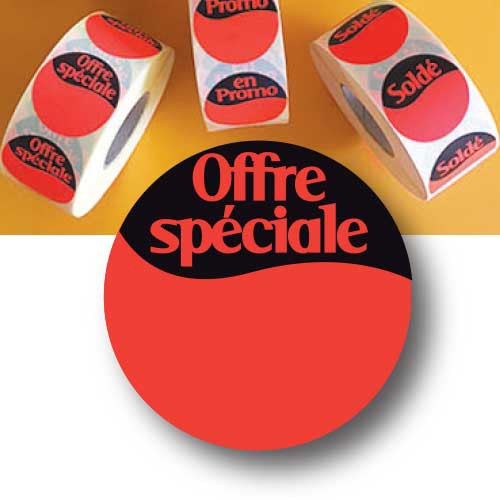 """1000 Stickers """"OFFRE SPECIALE"""" 40 mm"""