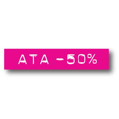 Cartel ATA -50%, 70 x 14 cm