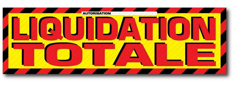 "Sticker adhésif ""Liquidation totale"" L200 H60 cm"
