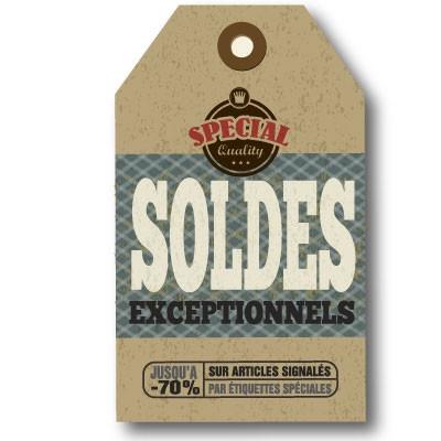 "Affiche vintage ""SOLDES""  L60 H100 cm"