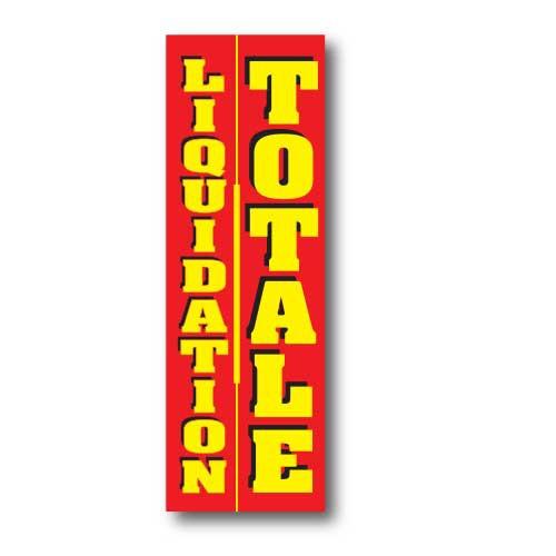 """Affiche """"LIQUIDATION TOTALE"""" L50 H150 cm"""
