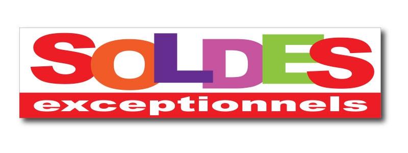 """Sticker adhésif """"SOLDES EXCEPTIONNELS"""" L200 H50 cm"""