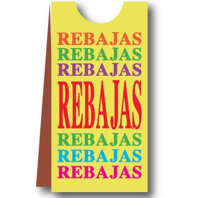 Cartel PARA MANIQUIES, REBAJAS, 40 x 168 cm