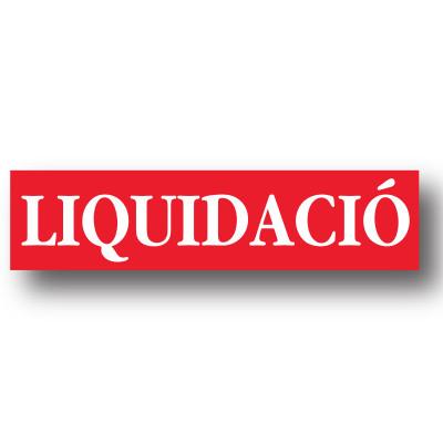 Cartel LIQUIDACIO, 86 x 20 cm