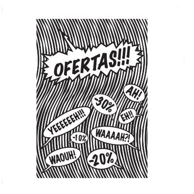 Cartel OFERTAS, 60 x 80 cm