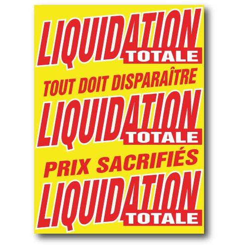 """Affiche """"LIQUIDATION TOTALE"""" L60 H80 cm"""