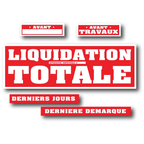 Kit de 5 affiches LIQUIDATION TOTALE