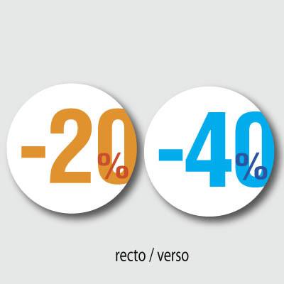 """Carton rond """"20% 40%"""""""