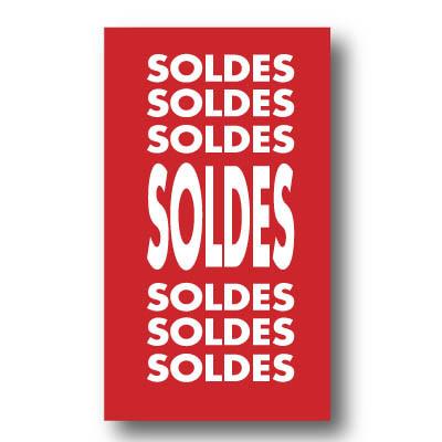 """Affiche """"SOLDES SOLDES SOLDES"""" L40 H72 cm"""