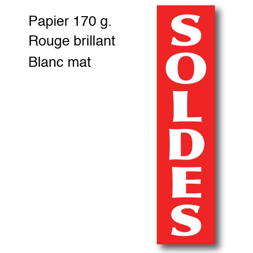"""Affiche """"SOLDES"""" L40 H165 cm"""
