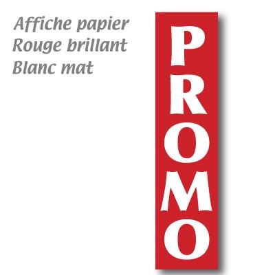 """Affiche """"PROMO"""" verticale L40 H165 cm"""