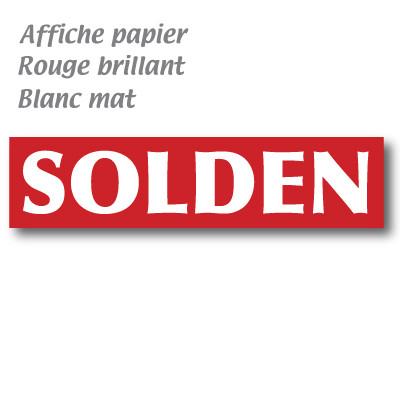 """L'affiche """"SOLDEN"""" horizontale L165 H 40 cm"""
