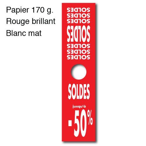 """Affiche mannequin """"SOLDES -50%"""" L40 H165 cm"""