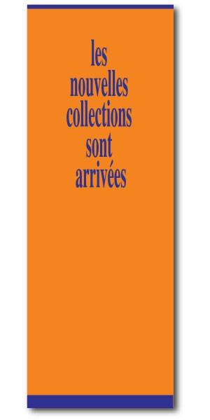"""Affiche """"les nouvelles collections..."""" L60 H168 cm"""