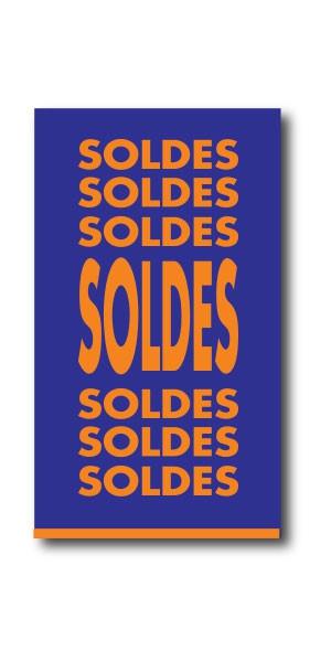 """Affiche """"SOLDES....SOLDES...SOLDES..."""" L40 H73 cm"""
