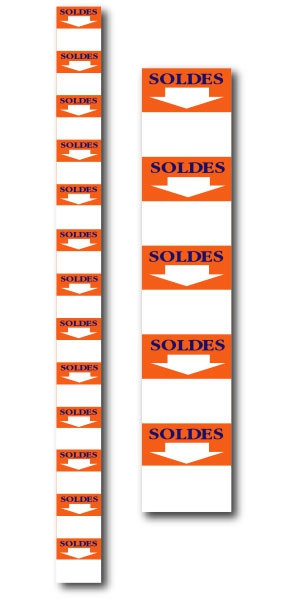 """Bandeau """"SOLDES"""" L8 H168 cm"""