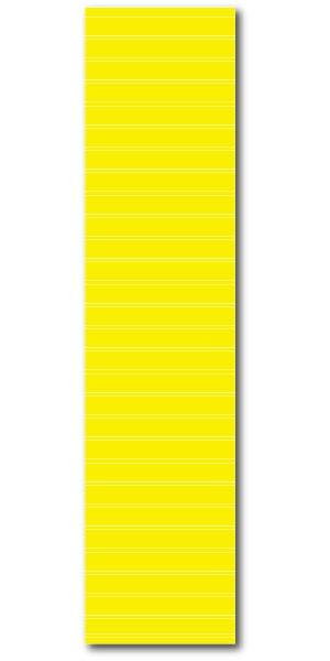 """Affiche """"jaune avec lignes blanches de repérage"""" L40 H170 cm"""